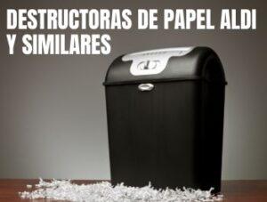 destructora papel aldi